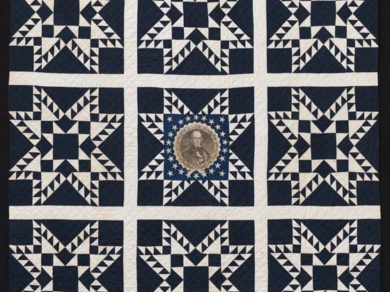American, Henry Clay Feathered Star Quilt, about 1844