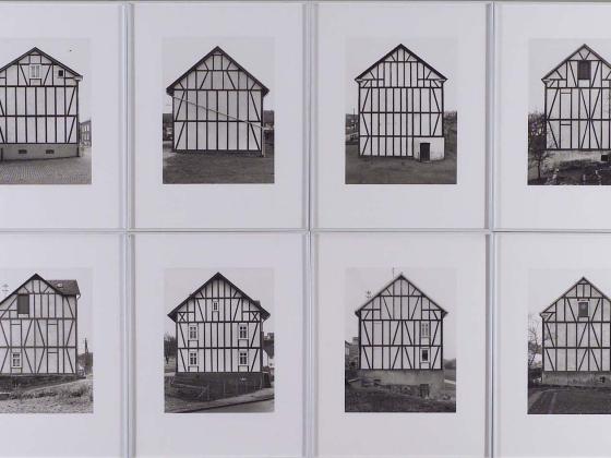 Bernd (Bernhard) Becher, Hilla Becher, Framework Houses- Wiesenstrasse 35, Siegen, negative 1970, printed 1993