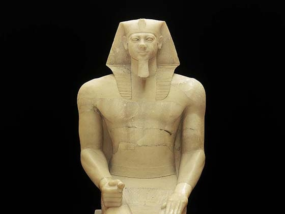 Egyptian, Colossal statue of Kind Menkaura (Mycerinus). 2490-2472 B.C.