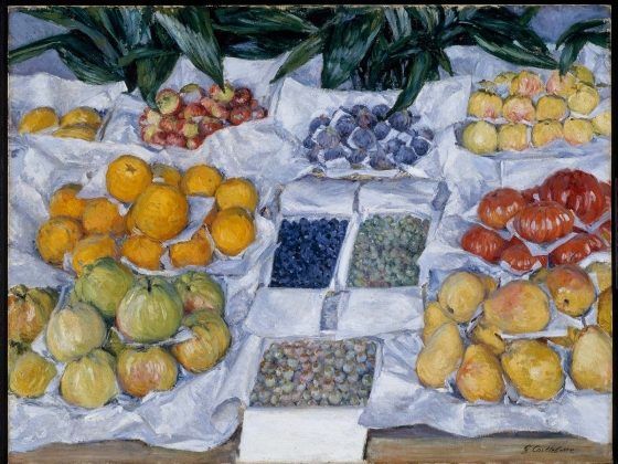Gustave Caillebotte, Fruit Displayed on a Stand, about 1881-82 (1979.196)