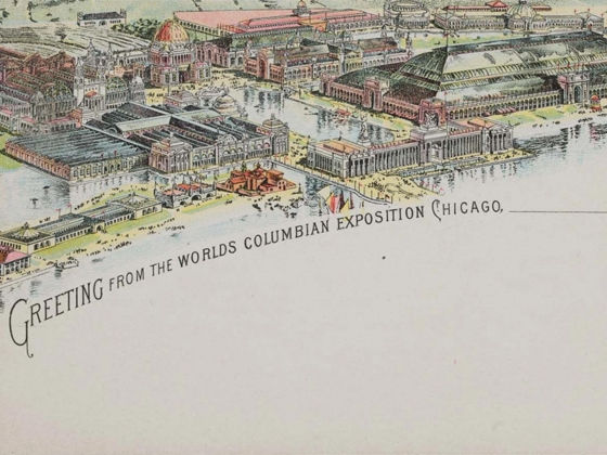 American, Bird's eye view of the World's Fair Chicago 1893, 1893