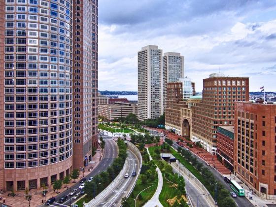 """""""Boston Cityscape"""" (c) 2010 Bert Kaufmann"""