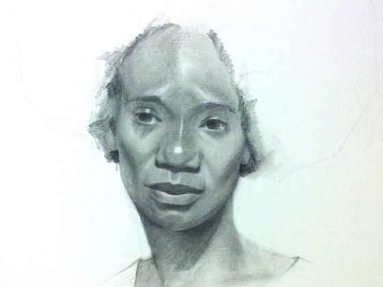Portrait drawing by Jeff Ellse
