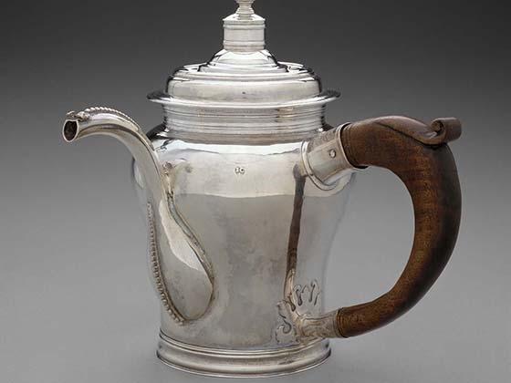 John Coney, chocolate pot, 1701