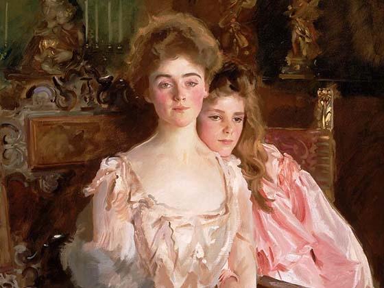 John Singer Sargent, Mrs. Fiske Warren and Her Daughter Rachel, 1903