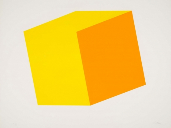 Ellsworth Kelly, Ten Color Lithographs: Yellow/Orange