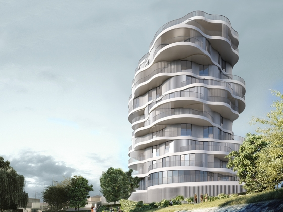 Folie Devine, Montpellier residential complex. Image courtesy of Farshid Moussavi Architecture.