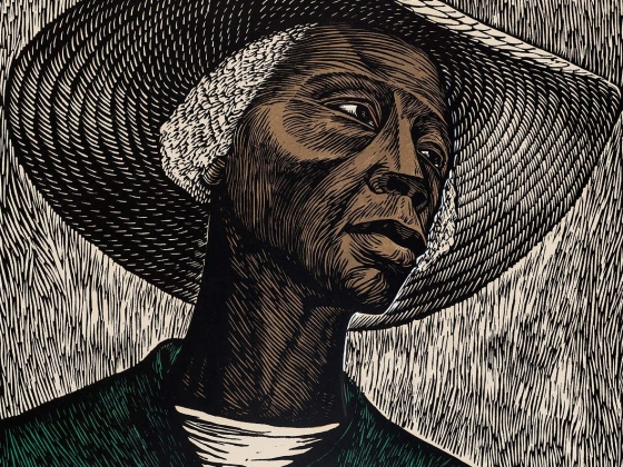 Elizabeth Catlett, Sharecropper (detail), 1952. Lee M. Friedman Fund.