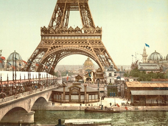 Eiffel Tower and general view of the grounds, Exposition Universelle, 1900
