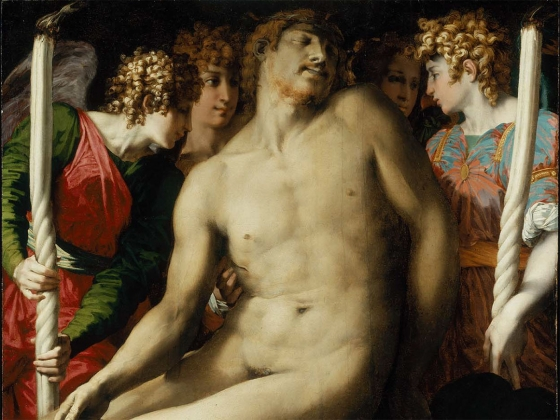 Detail of Rosso Fiorentino's painting (Giovanni Battista di Jacopo), The Dead Christ with Angels, about 1524–27