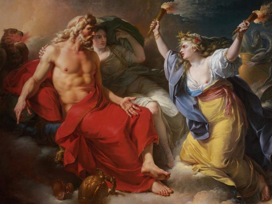 Antoine-Francois Callet, Ceres Begging for Jupiter's Thunderbolt after the Kidnapping of Her Daughter Proserpine, 1777