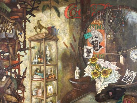 Eldzier Cortor, Still-Life: Past Revisited (detail), 1973