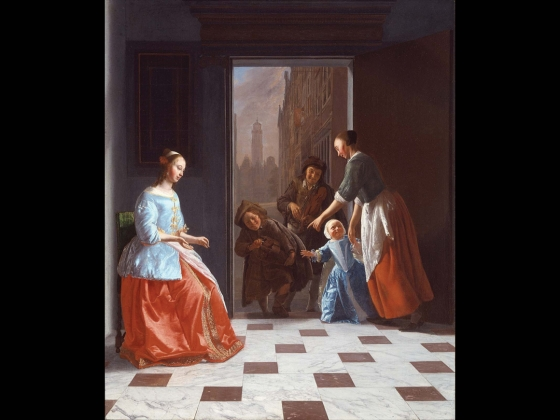 Dutch painting of musicians.