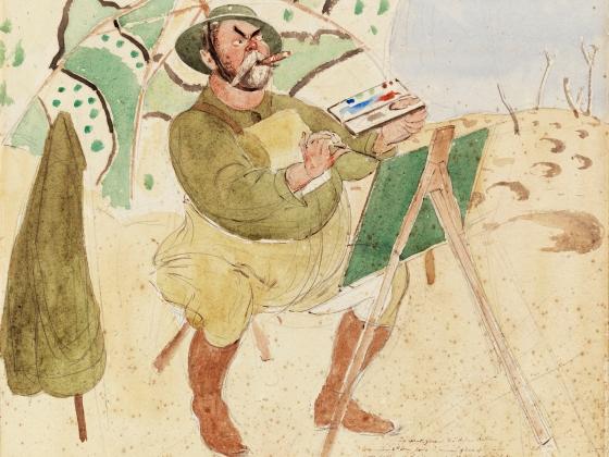 Henry Tonks, John Singer Sargent Painting, 1918
