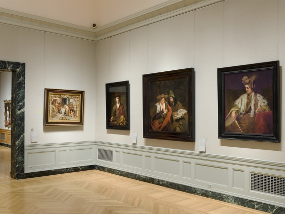 Art of the Netherlands in the 17th Century, Gallery 243, view of gallery corner