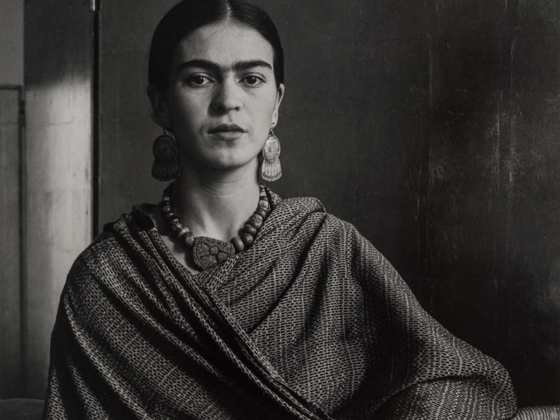 Detail of Imogen Cunningham's photograph, Frida Kahlo Rivera, Painter and Wife of Diego Rivera