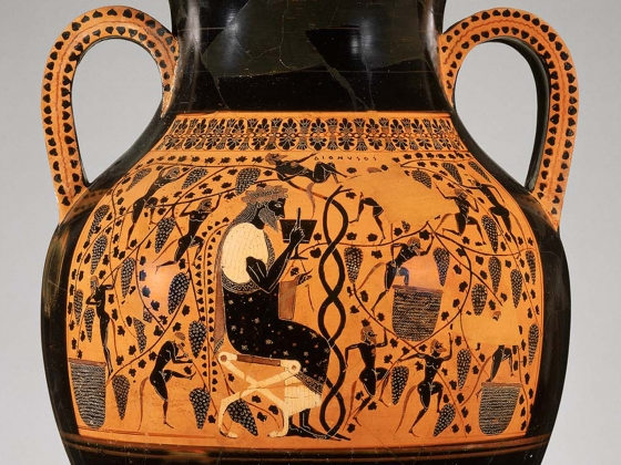 Close to Exekias, Two-handled jar (amphora), Greek, Archaic Period, about 540–530 BC
