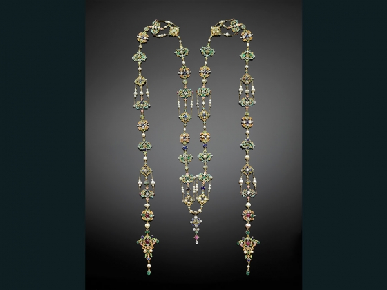 Renaissance revival neck ornament, Designed by G. Paulding Farnham, 1859–1927