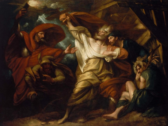 Benjamin West, King Lear, 1788, retouched by West 1806