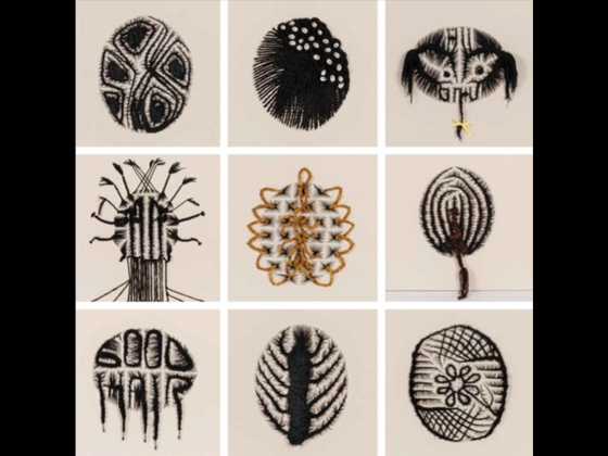 Sonya Clark, works from The Hair Craft Project: Hairstylists with Sonya, 2013