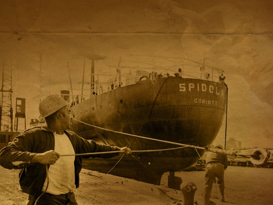 Film Still from Working the Boats