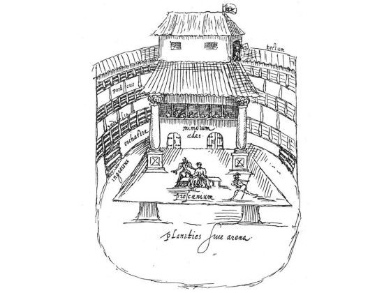 The Swan Theatre. Arnold Buchelius (Aernout van Buhel) (1565-1641)