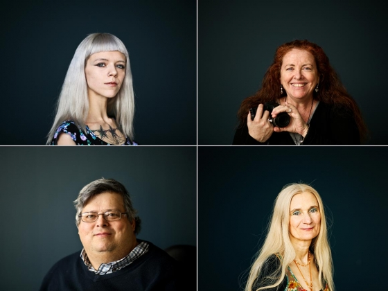 Four portraits of artists who have participated in ArtLifting