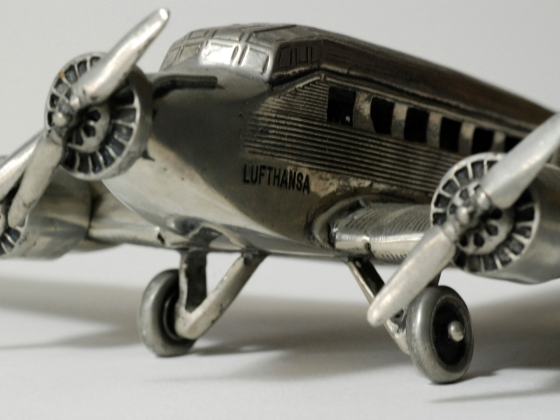 Deutsche Lufthansa Ju 52 model, after an original airplane built by Junkers Flugzeug- und Motorenwerke AG, 1930s