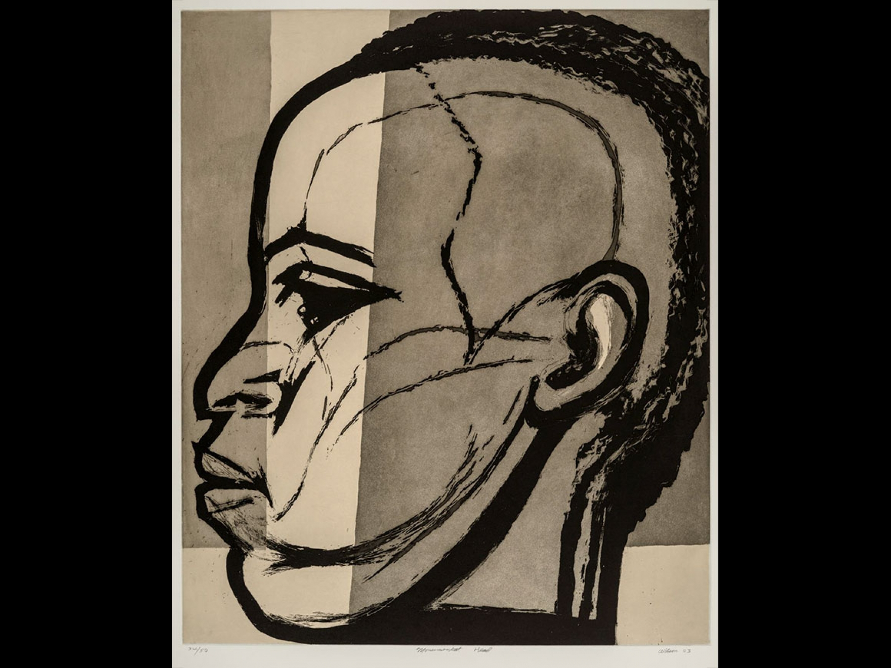 John Wilson's print, Monumental Head