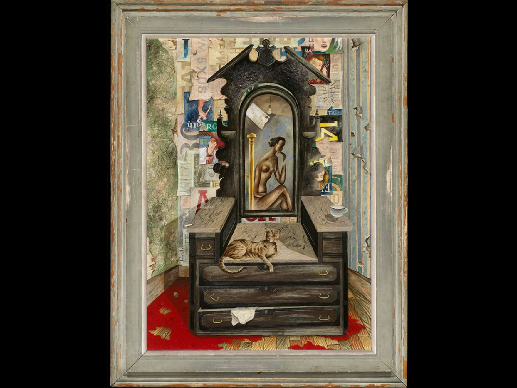 Eldzier Cortor's painting, Room No. V