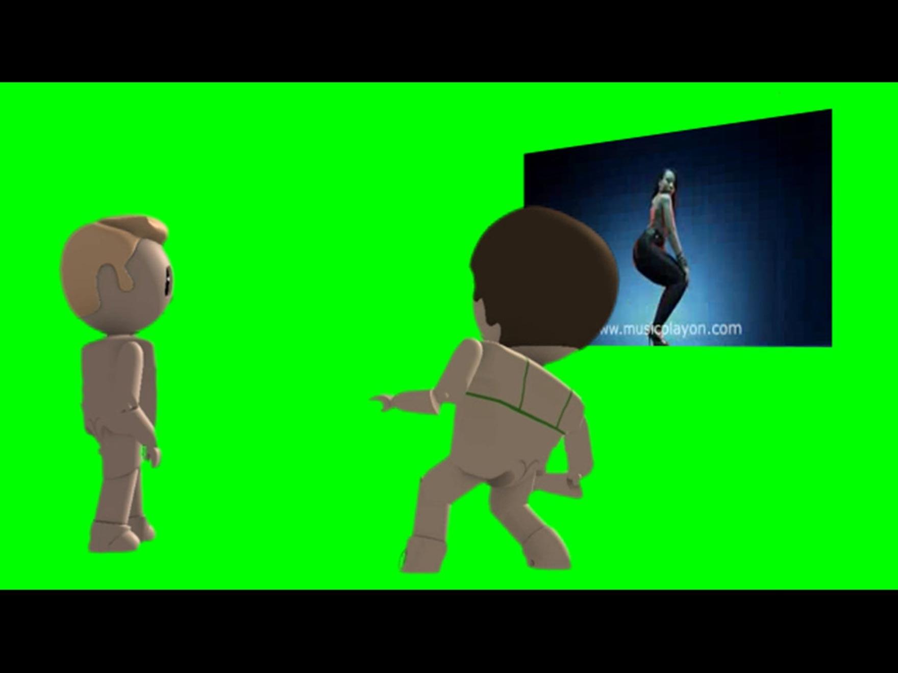 Screenshot of two animated figures
