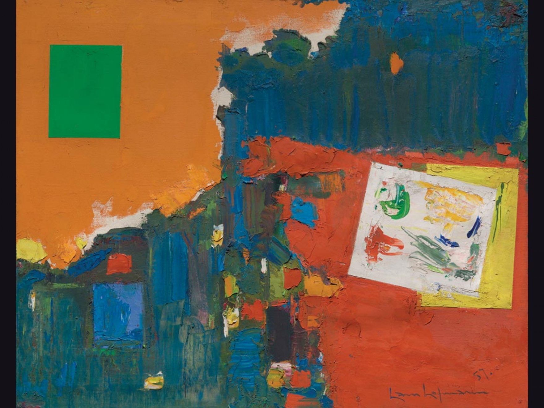 Colorful abstract expressionist painting