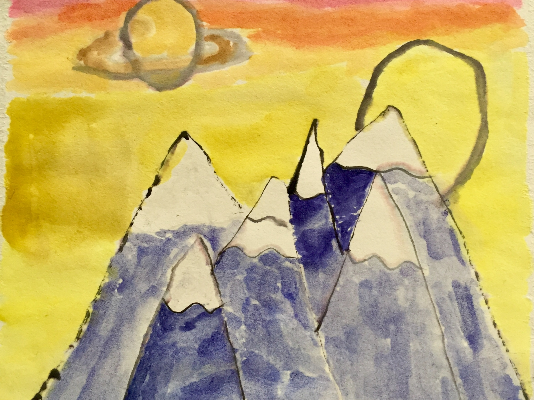 landscape painting childrens saturday studio art class ages 9 11 - Painting For Childrens