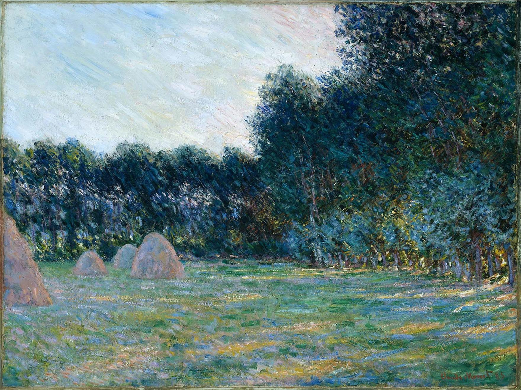 Claude Monet, Meadow with Haystacks near Giverny, 1885