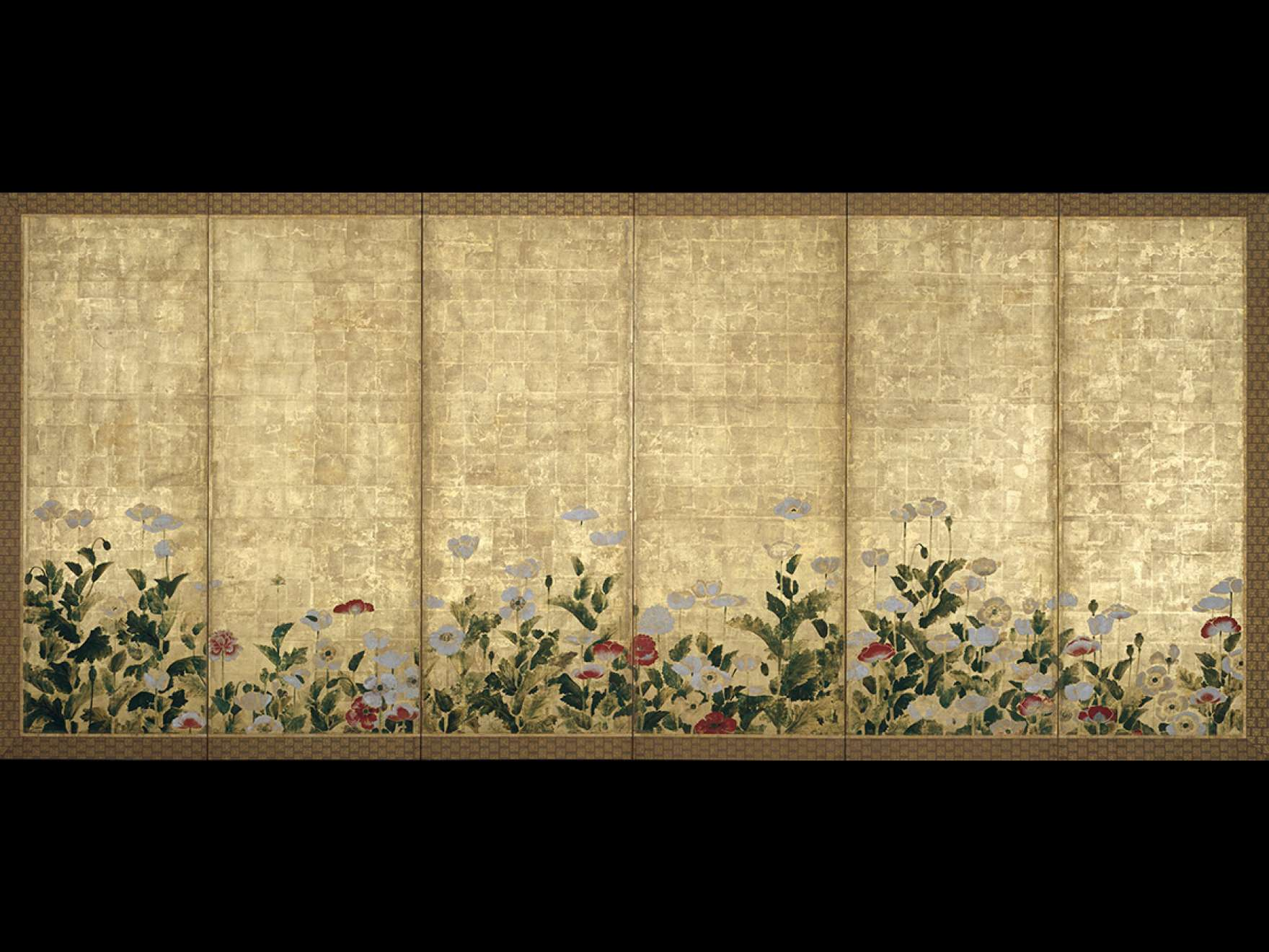School of Tawaraya Sōtatsu, Poppies, 17th century