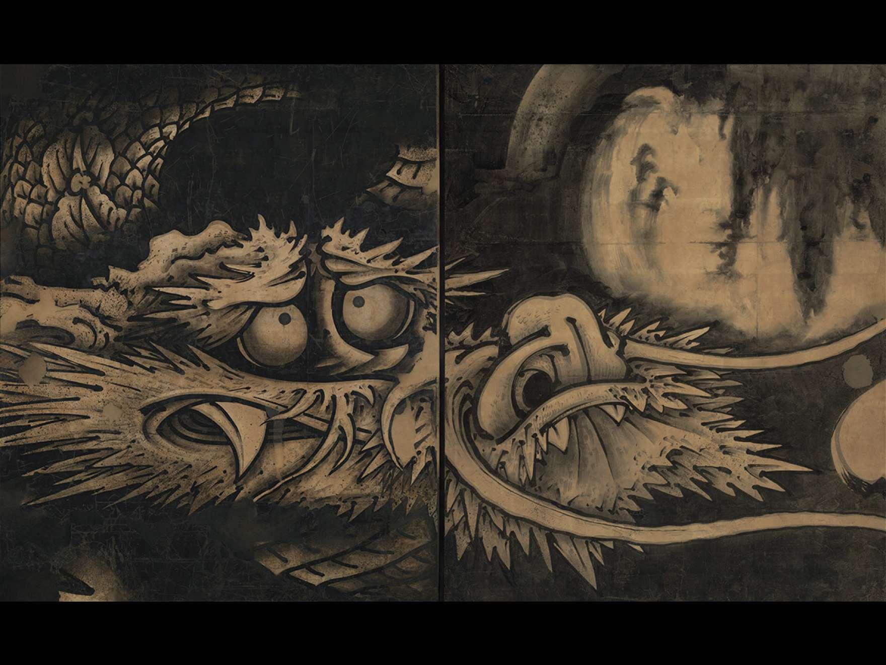 Soga Shōhaku, Dragon and Clouds, 1763