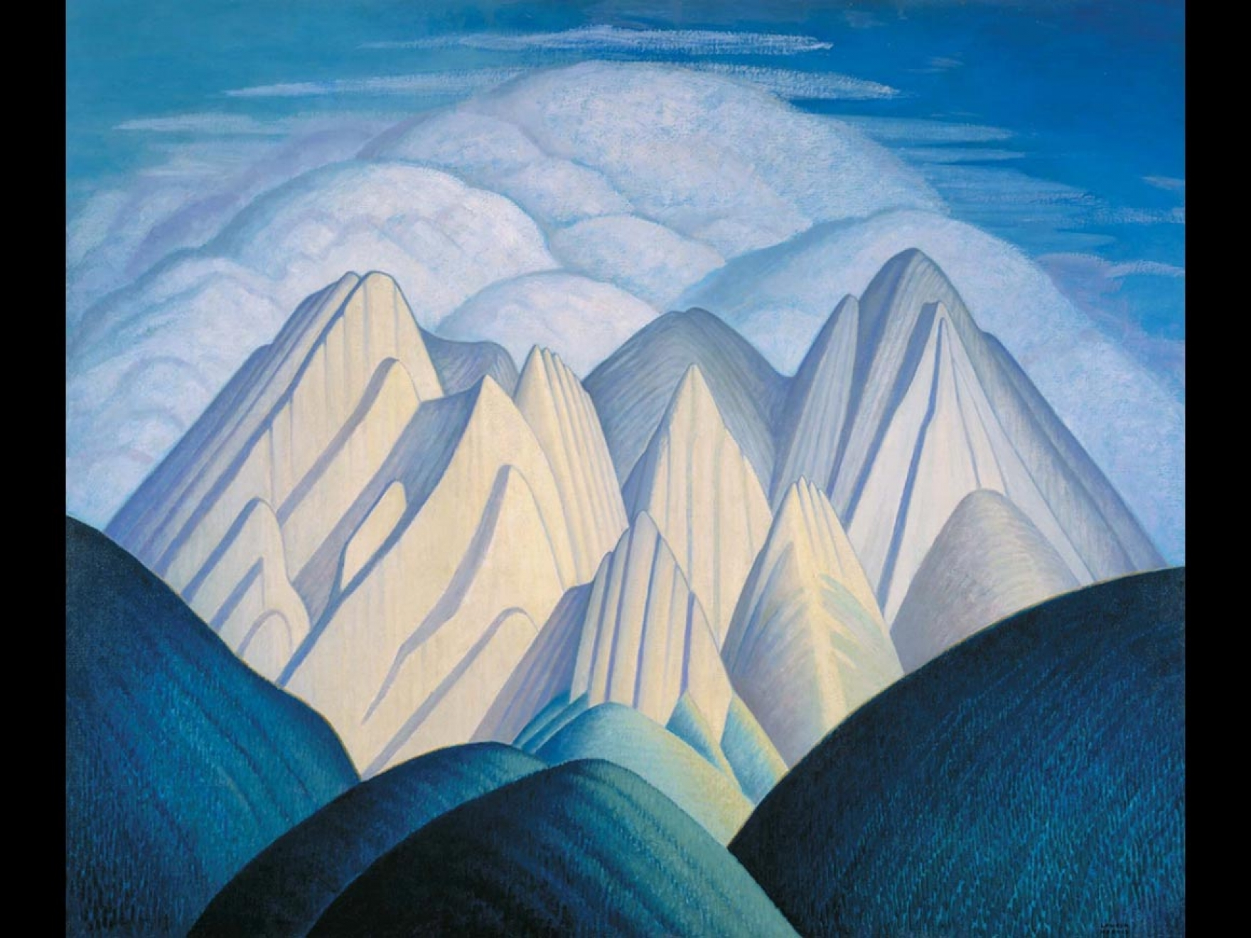 Lawren Harris, Untitled (Mountains near Jasper), 1934–40