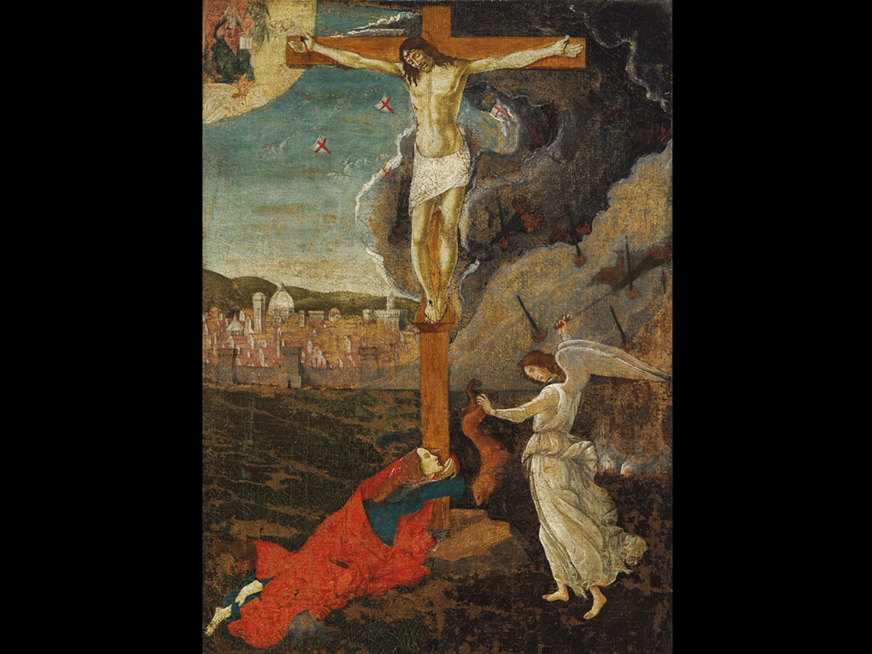 Sandro Botticelli's painting, Mystic Crucifixion, about 1500
