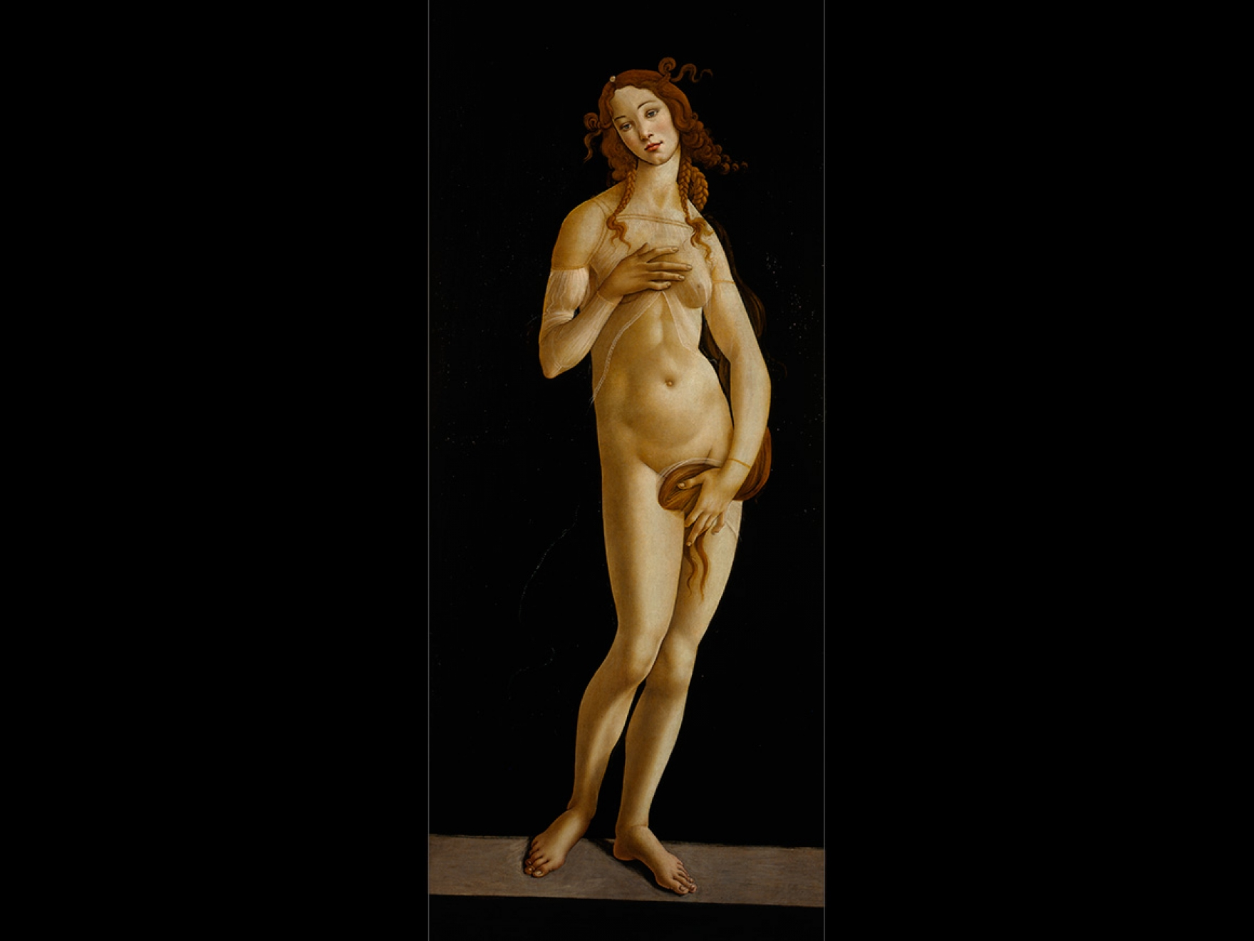Sandro Botticelli and workshop's painting, Venus, about 1484–90