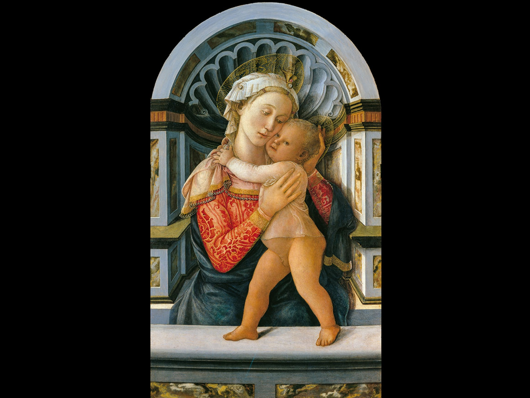 Fra Filippo Lippi's painting, Virgin and Child, about 1466–69