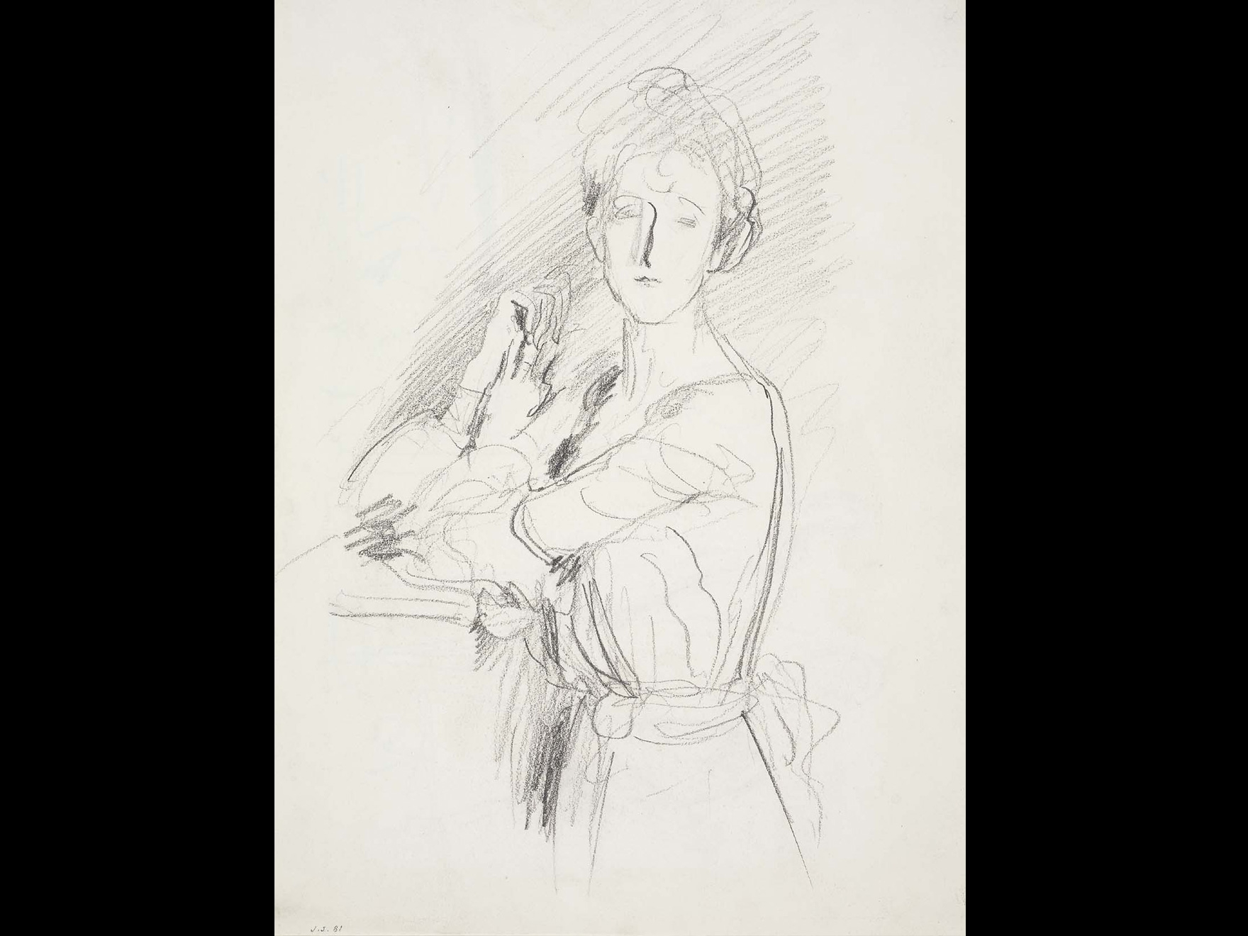 John Singer Sargent, Portrait of Lady Russell (Ada Williams); verso: Figure Studies, late 19th century