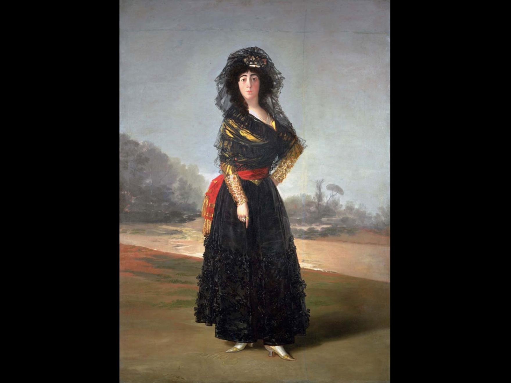 Portrait of María del Pilar Teresa Cayetana de Silva Álvarez de Toledo y Silva, Thirteenth Duchess of Alba, 1797