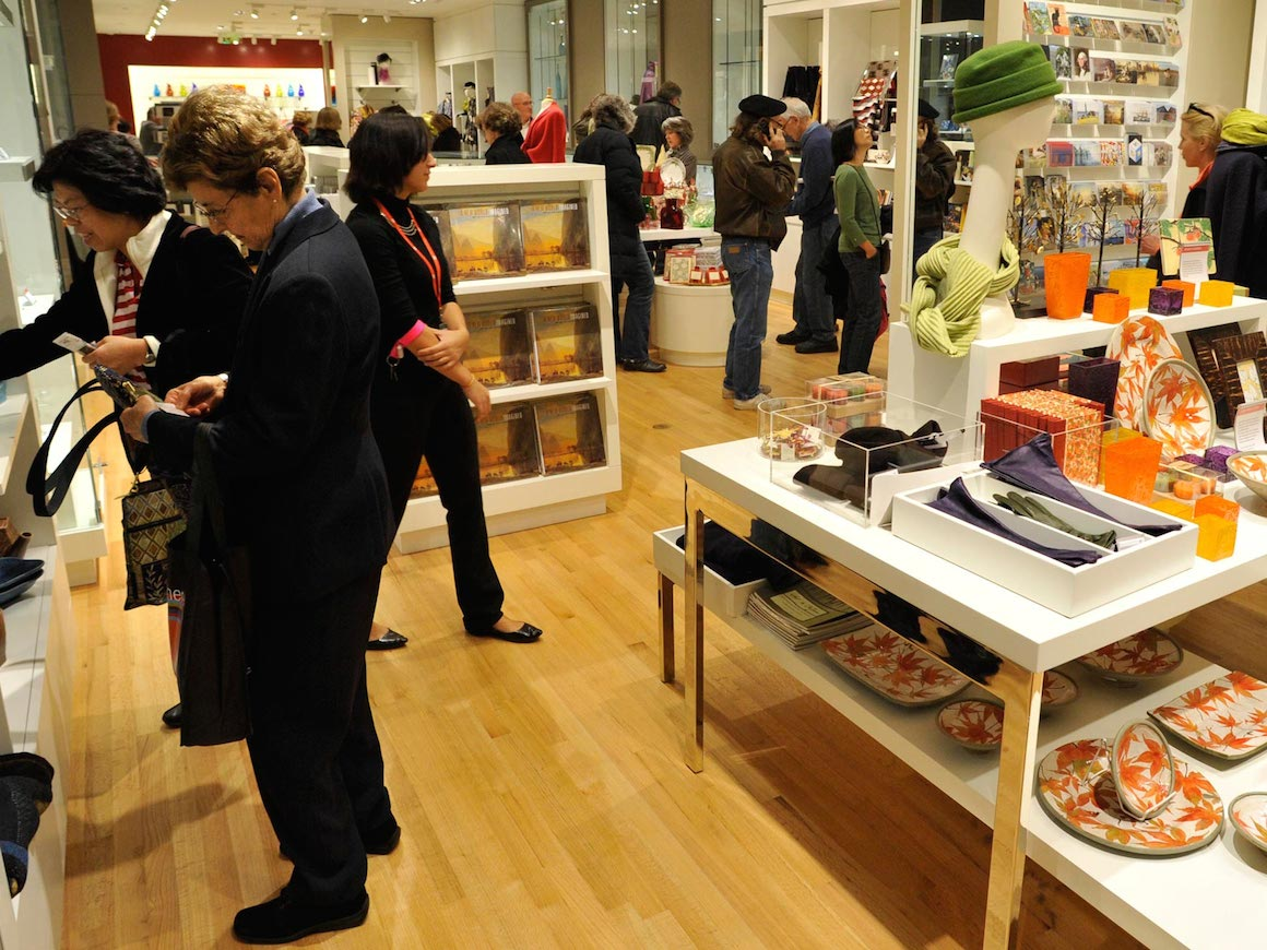 Visitors in the Museum Shop, shopping for gifts