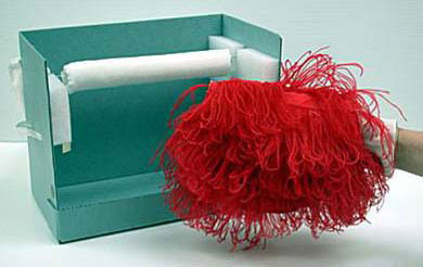 Small muff evening bag, French, 1932, Silk satin and ostrich feathers, 33.5 x 39.5 x 12.7 cm (13 3/16 x 15 9/16 x 5 in.), Gift of Miss Agnes Taft Baldwin, 52.1768.