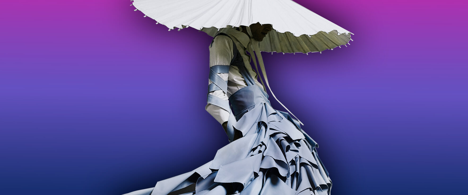 "Graphic featuring dress made by Alessandro Trincone, for ""Annodami"" Collection"