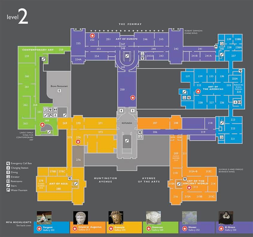 Floorplan of Museum's Level 2