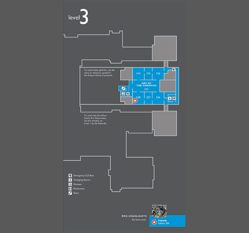 Floorplan of Museum's Level 3