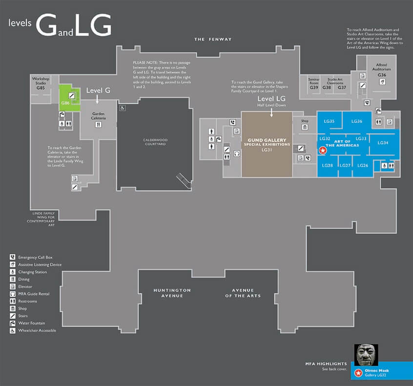 Floorplan of Museum's Level G and LG