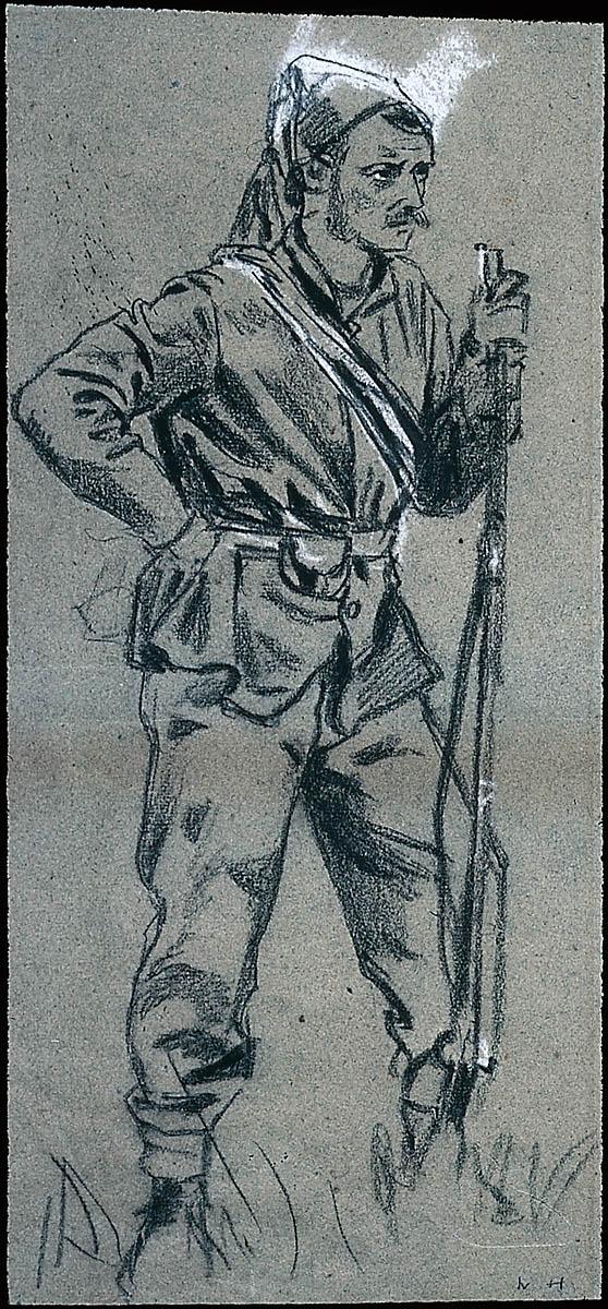 civil war soldier in zouave cap museum of fine arts boston