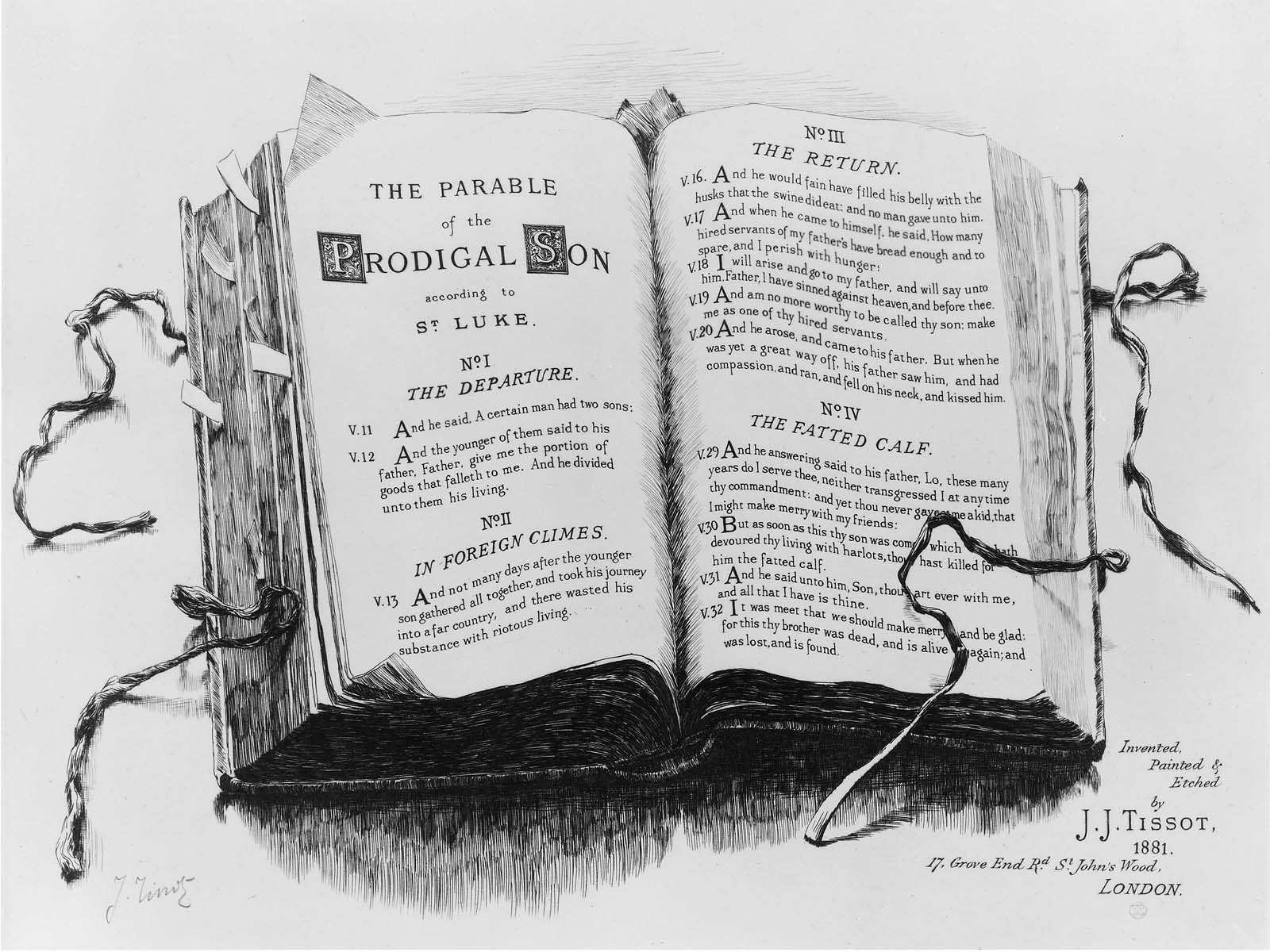 Parable Of The Prodigal Son Titlepage 1881 Museum Of Fine Arts